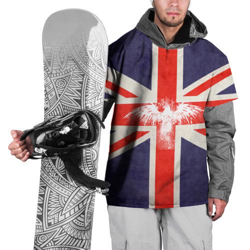 Накидка на куртку 3D Флаг Англии с белым орлом