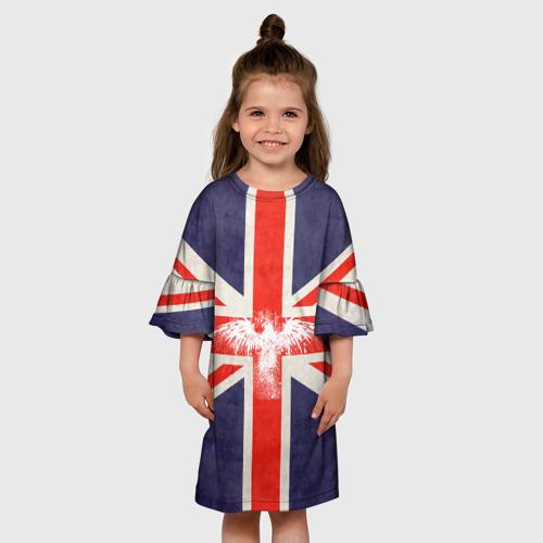 Детское платье 3D Флаг Англии с белым орлом