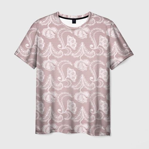 Мужская футболка 3D Кружева