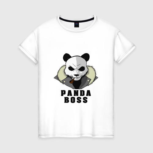 Женская футболка хлопок Panda Boss