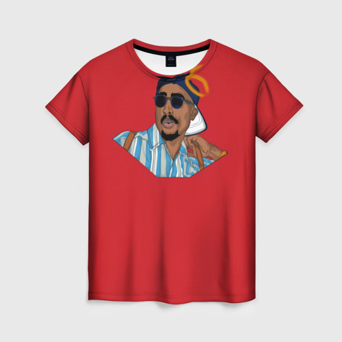 Женская футболка 3D Red