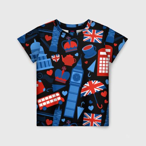 Детская футболка 3D Великобритания