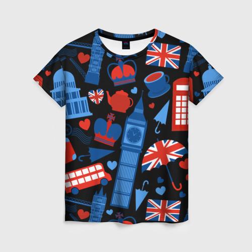 Женская футболка 3D Великобритания
