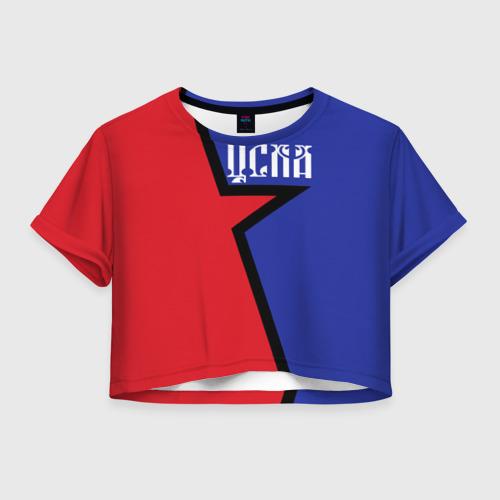 Женская футболка Crop-top 3D ЦСКА