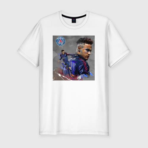 Мужская футболка хлопок Slim Неймар в ПСЖ