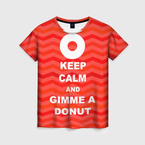 Женская футболка 3D Gimme a donut