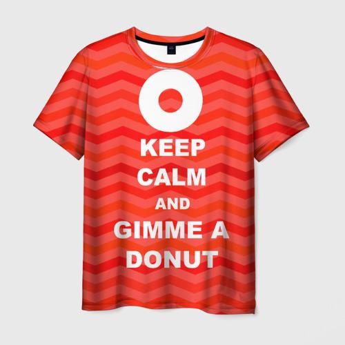 Мужская футболка 3D Gimme a donut