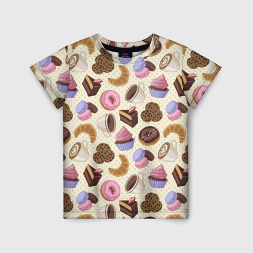 Детская футболка 3D Радости и сладости 2