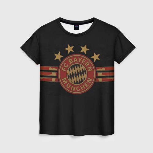 Женская футболка 3D Бавария Мюнхен