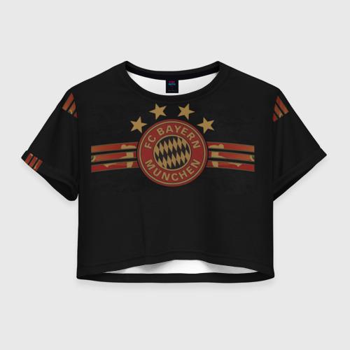 Женская футболка Crop-top 3D Бавария Мюнхен