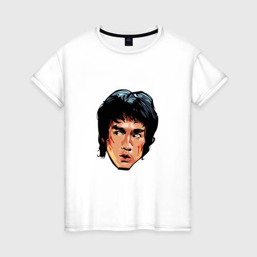 Женская футболка хлопок Брюс Ли