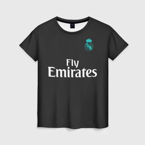Женская футболка 3D Cristiano Ronaldo away 2018