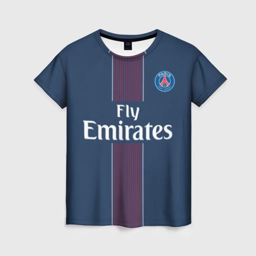 Женская футболка 3D ПСЖ