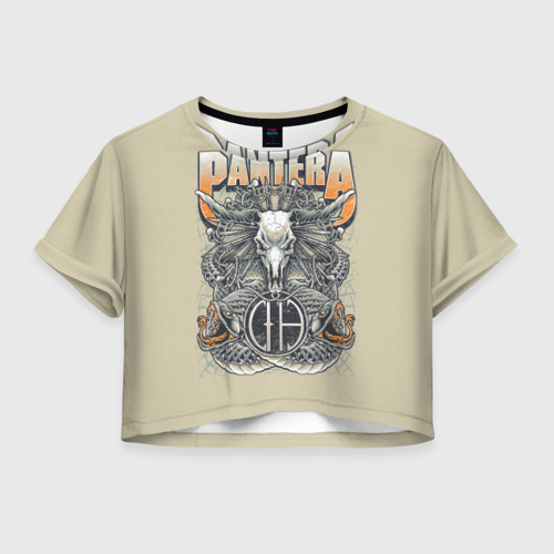 Женская футболка Crop-top 3D Pantera 81