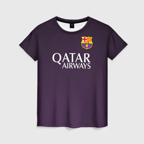 Женская футболка 3D Barca Messi