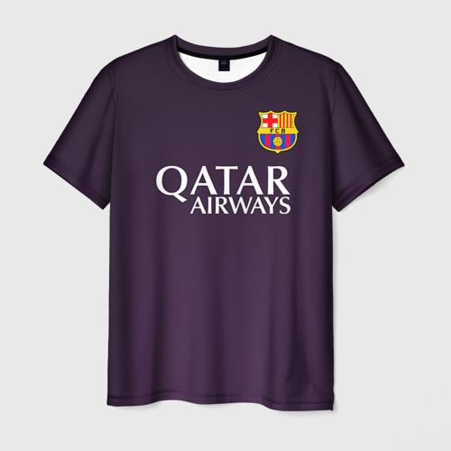 Мужская футболка 3D Barca Messi
