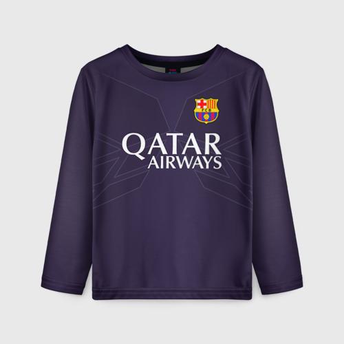Детский лонгслив 3D Barca Messi 1