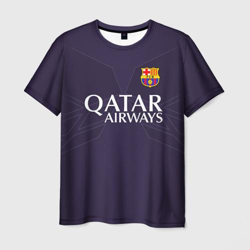 Мужская футболка 3D Barca Messi 1