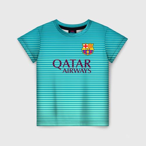Детская футболка 3D Aqua Messi