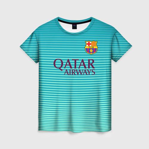 Женская футболка 3D Aqua Messi