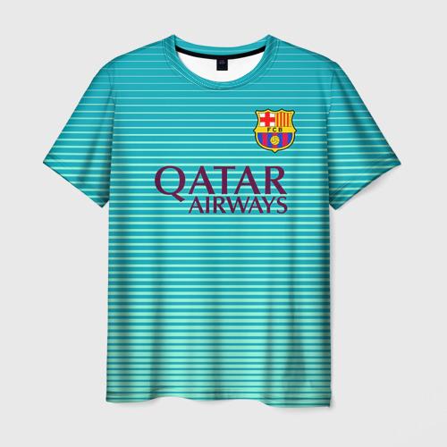 Мужская футболка 3D Aqua Messi