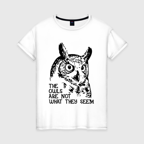 Женская футболка хлопок Twin Peaks Owl