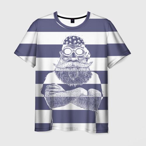 Мужская футболка 3D Old Hipster