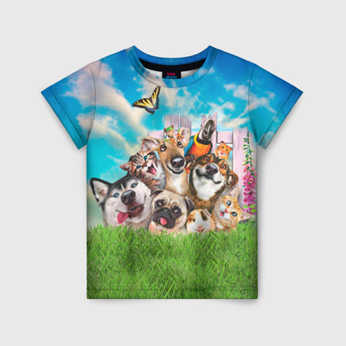 Детская футболка 3D Пет-селфи