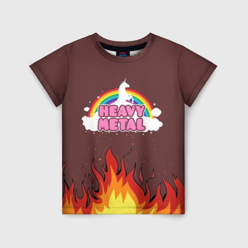 Детская футболка 3D Heavy METAL