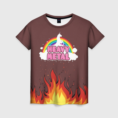 Женская футболка 3D Heavy METAL