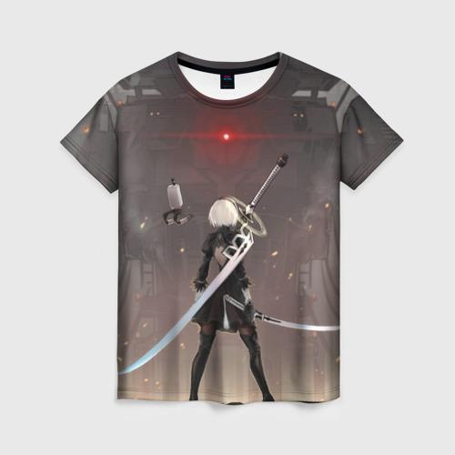 Женская футболка 3D мечница