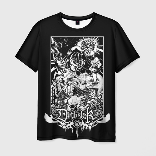 Мужская футболка 3D Metalocalypse (Dethklok) 3