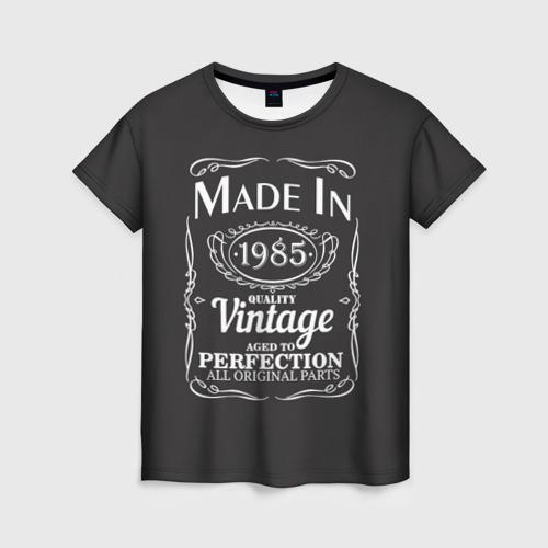 Женская футболка 3D Сделано в 1985