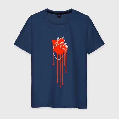 Мужская футболка хлопок Живое сердце