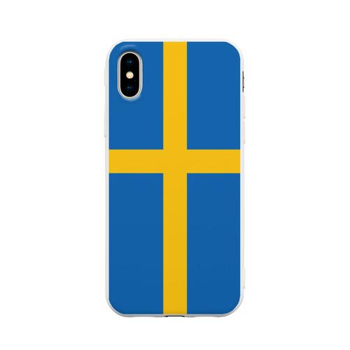 Чехол для iPhone X матовый Флаг Швеции