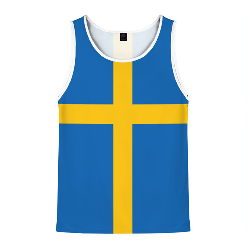 Мужская майка 3D Флаг Швеции
