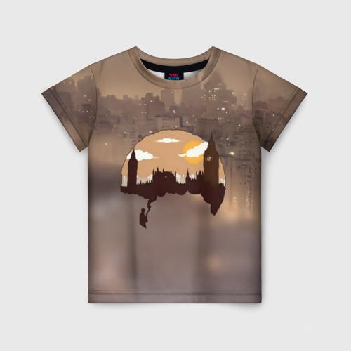 Детская футболка 3D Шерлок Холмс Лондон
