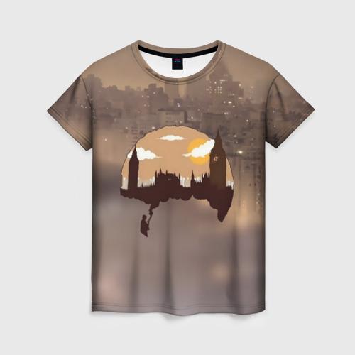 Женская футболка 3D Шерлок Холмс Лондон