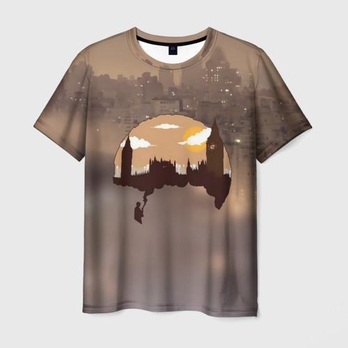 Мужская футболка 3D Шерлок Холмс Лондон