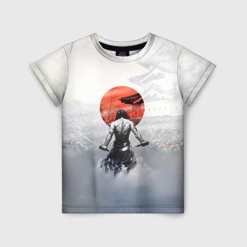 Детская футболка 3D Японский самурай