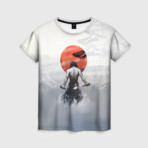 Женская футболка 3D Японский самурай