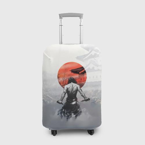 Чехол для чемодана 3D Японский самурай