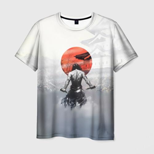 Мужская футболка 3D Японский самурай