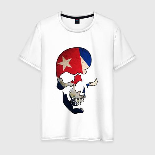 Мужская футболка хлопок Цветной череп