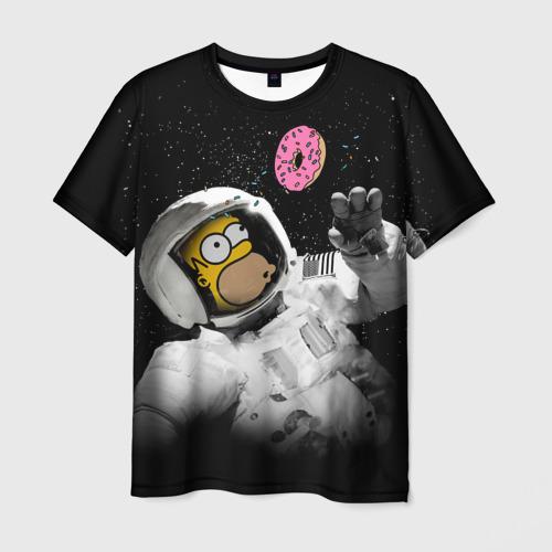 Мужская футболка 3D Space Homer