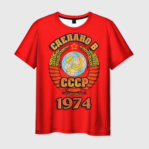 Мужская футболка 3D Сделано в 1974