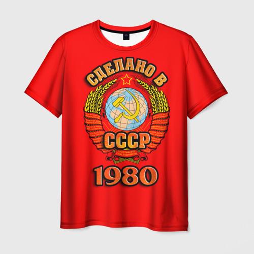Мужская футболка 3D Сделано в 1980