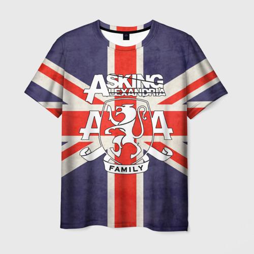 Мужская футболка 3D Asking Alexandria флаг Англии