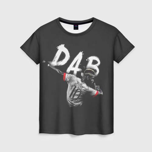 Женская футболка 3D Поль Погба