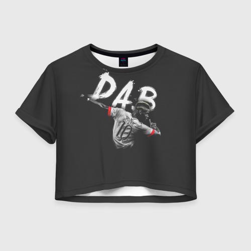 Женская футболка Crop-top 3D Поль Погба